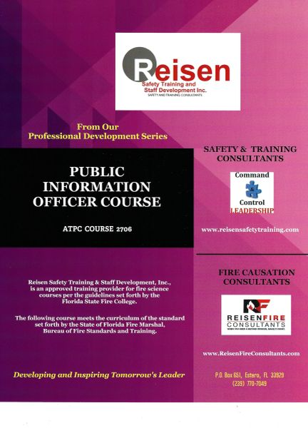 Public Information Officer Course PowerPoint Manual