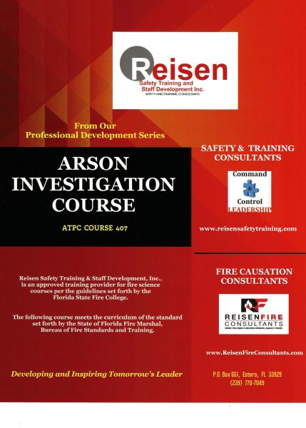 Arson Investigation Course PowerPoint Manual
