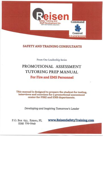 Assessment Center Promotional Fire/EMS Tutoring Prep Manual