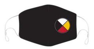 Medicine Wheel adult unisex 3 layered reusable mask with filter