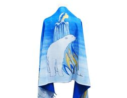 Mother winter art print shawl