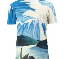 unisex lake and mountains full print art t-shirt