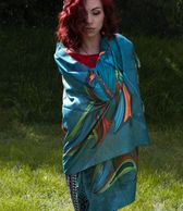 friends print shawl by Indigenous artist maxine noel