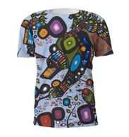 Unisex bear full print art t-shirt