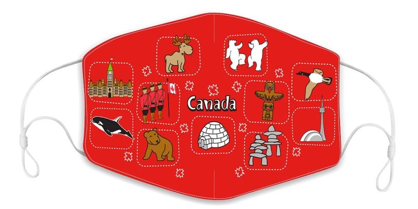 all about Canada children's reusable face mask