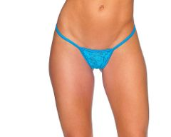 Lace Low Back Tee Thong Small/Med or Med/Large BodyZone