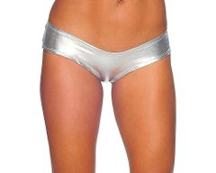 Foil Scrunch Back Super Micro Shorts Small/Med or Med/Large