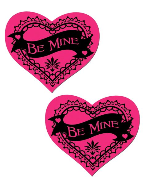 Be Mine' Red Heart Nipple Pasties