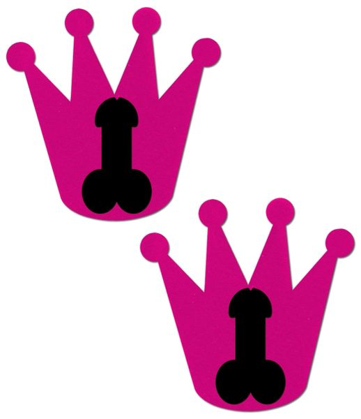 Bright Pink Crowns with Black Penis