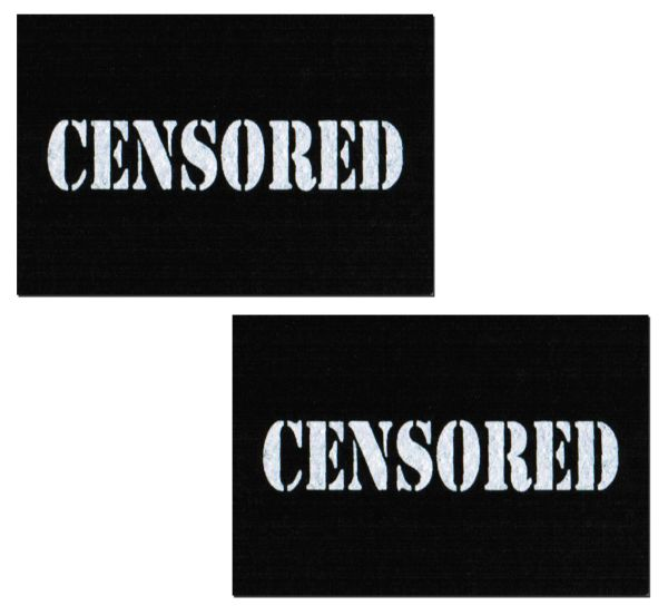 BLACK CENSOR BARS