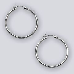 35mm Hoop Earring with Hinge Top