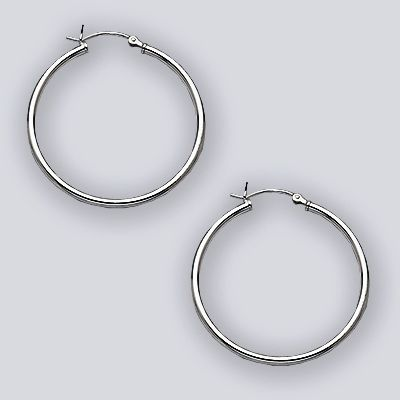 35mm Hoop Earring with Hinge Top