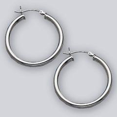 30 mm Hoop Earring with Hinge Top