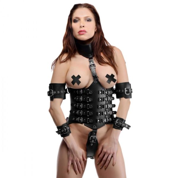Ultimate Lockdown Female Waist Cincher Gothic BDSM