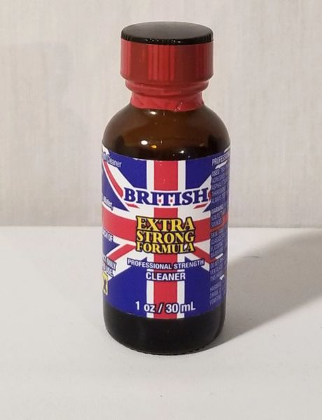BRITISH CLEANING SOLUTION LIQUID 30ML / 1oz