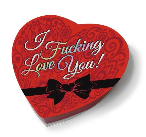 I F#CKING LOVE YOU HEART BOX CHOCOLATES