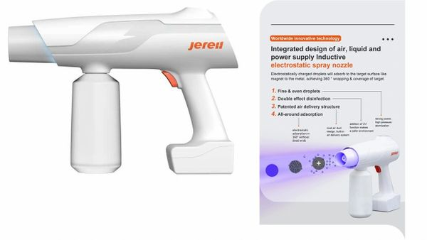 Jereh C JES-HS60 Cordless, Handheld Electrostatic Disinfectant Sprayer w/UV