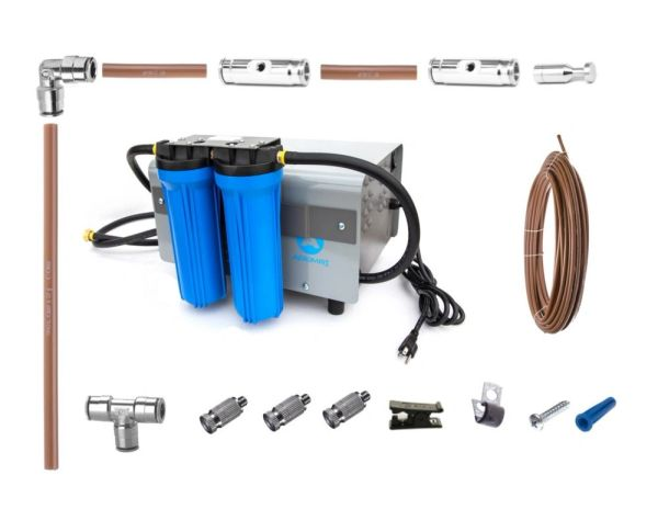 1000 PSI Misting Kit w/100 ft Nylon Tubing, 50 Nozzles, and 4-55 Gallon Drums OCP&E Neutrole RTU