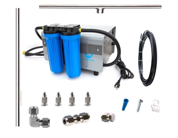 Aeromist 1000PSI 64' stainless steel misting system w/enclosed pump drive