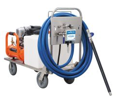 Lafferty 916875 Gas Driven Foaming Machine with Air Compressor and Tank