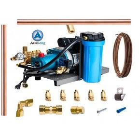 Aeromist 1000 PSI 60' Copper Misting System w/ Direct-Drive Pump