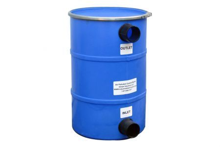 Pollution Control Barrel, 150LB HDPE, Max 100CFM