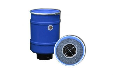 Mega Wolverine 40LB Odor Adsorber Barrel, 20CFM Max