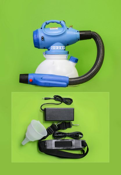 In stock, 5L cordless Li-on battery powered ulv cold fogger w/flex hose