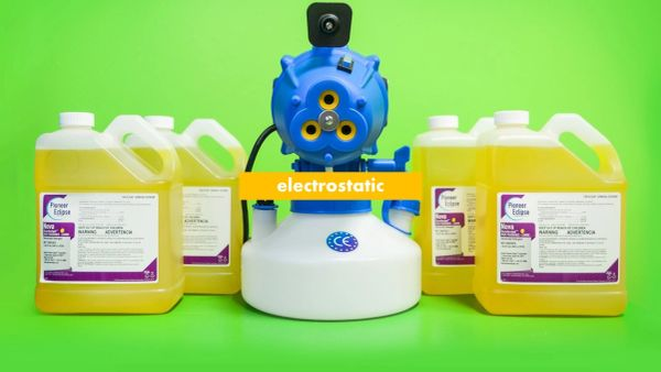 1000W, 110V, Tri-Jet Electrostatic ulv cold fogger w/ 4 x 1 gallon case EPA Lemon Disinfectant