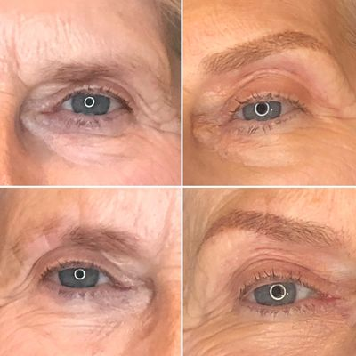permanent eyebrows, microblading, powderfill