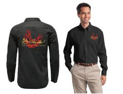 "Burt Reynolds Long Sleeve ""Firebird"" Embroidered Work Shirt"