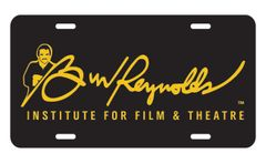 Burt Reynolds Institute Gold & Black Vanity Plate