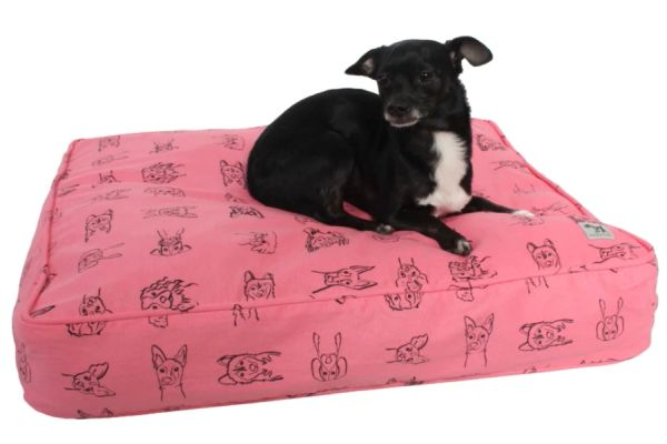 Pink Cadillac Dog Bed Duvet by Molly Mutt