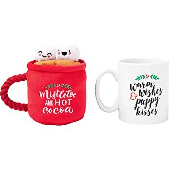 Warm Wishes and Puppy Dog Kisses Coffee Mug & Dog Toy Set by Pearhead