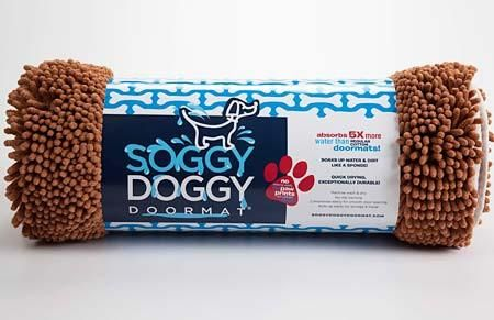 Caramel with Bone Doormat by Soggy Doggy