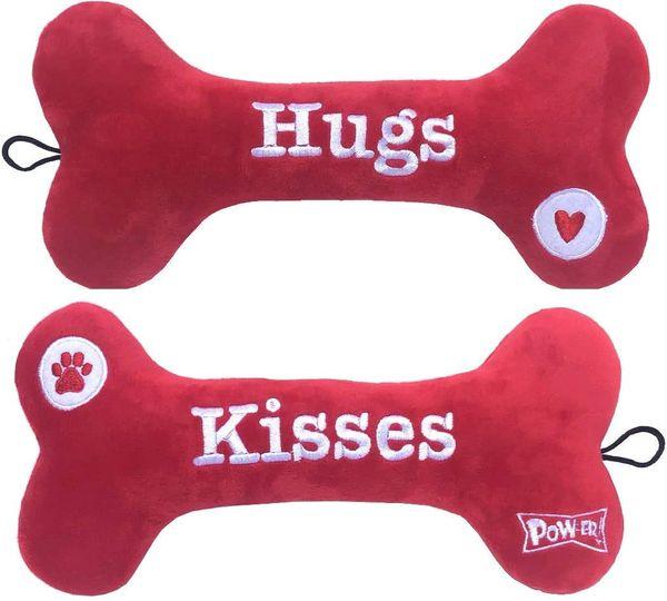 Hugs & Kisses Pow-er Plush Bone by Huxley & Kent
