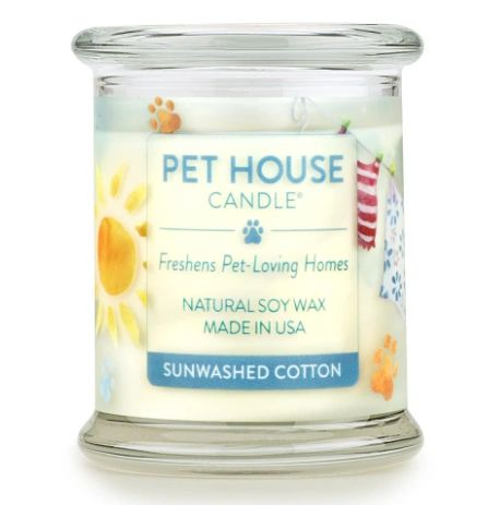 Sunwashed Cotton Candle by Pet House from One FUR All