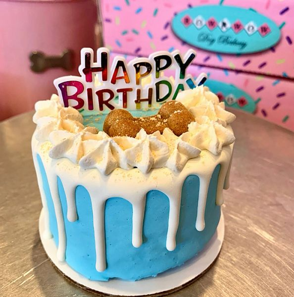 Birthday Dog Cake by Bow Wow Dog Bakery