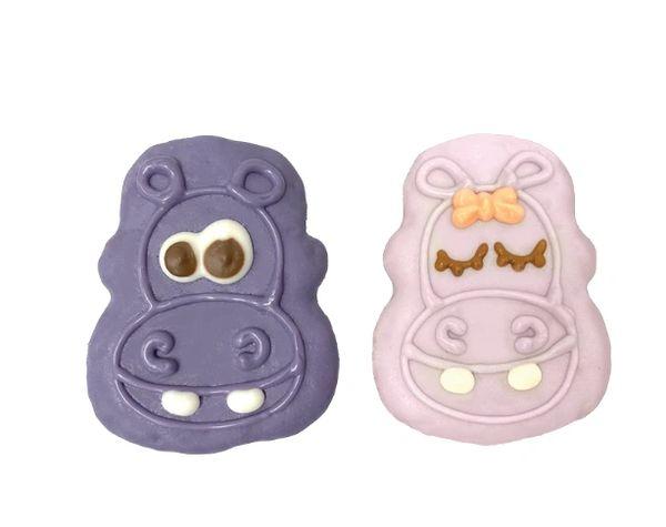 Hip-Hip-Hooray! Purple Hippos Cookie by Bosco & Roxy's