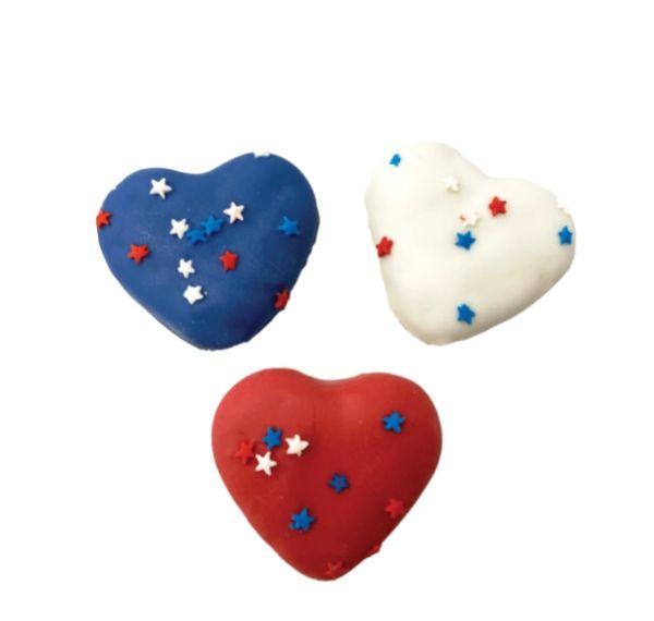 Dog Bless America USA Mini Heart Cookies by Bosco & Roxy's