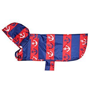 "Packable Poncho ""Nautical"" by RC Pet Products"