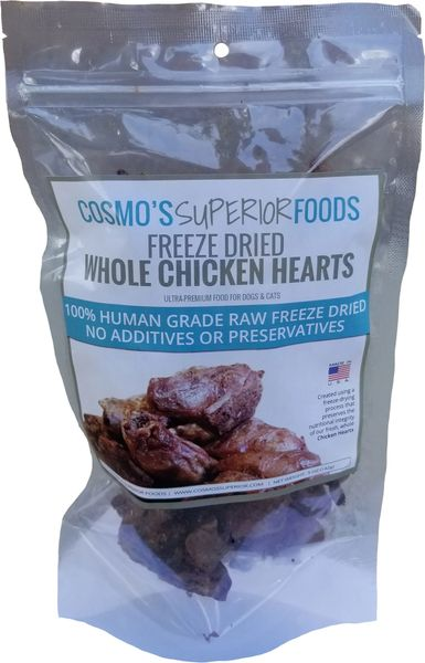 Cosmo's Whole Chicken Hearts - 5oz