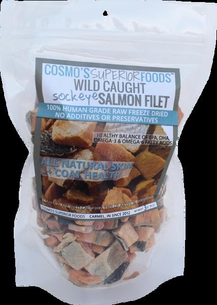 Cosmo's Freeze Dried Wild Caught Salmon - 3oz