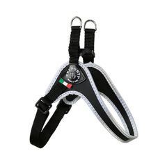 Black Adjustable Belly Harness for Small Dogs by Tre Ponti