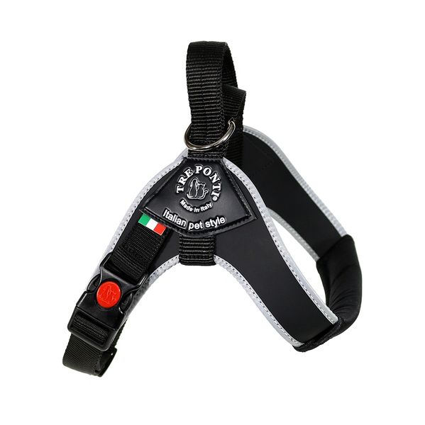Black Brio Harness for Medium/Large Dogs by Tre Ponti