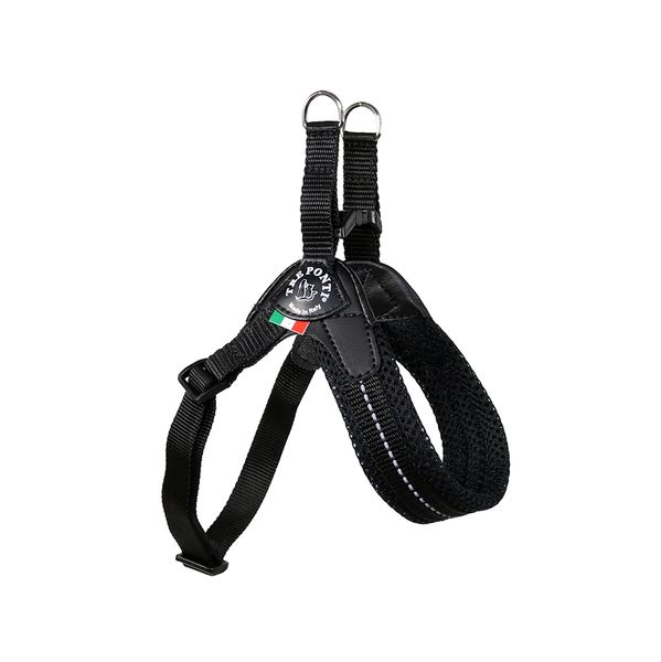 Black Mesh Adjustable Harness for Small Dogs by Tre Ponti