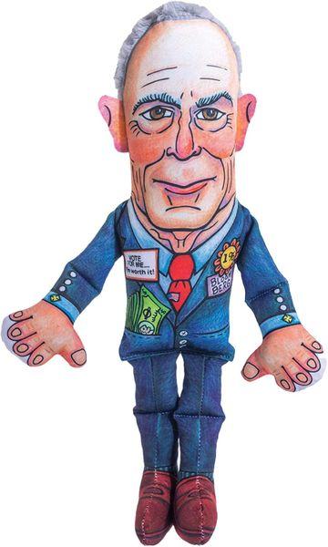 "Mike Bloomberg ""Presidential Parody"" Plush by Fuzzu"