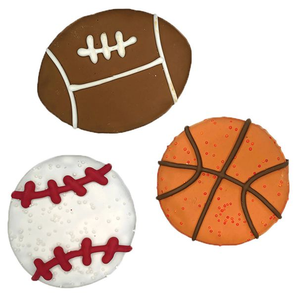Sports Ball Gourmet Cookies by Bosco & Roxy's
