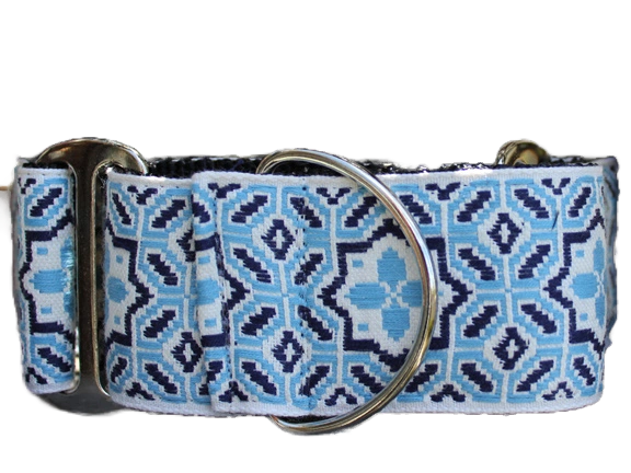 "Martingale Collar in ""Santorini By The Sea"" by Diva Dog"