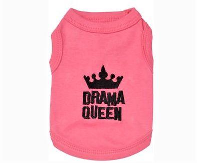 """Drama Queen"" Hot Pink & Black Shirt by Parisian Pet"